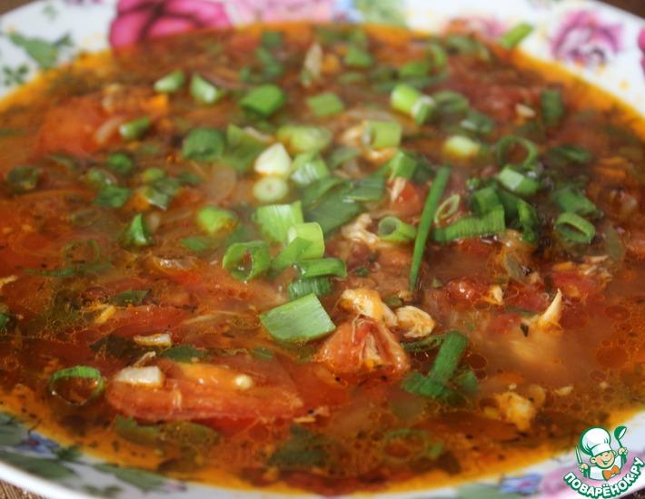Рецепт: Томатный суп с мясом