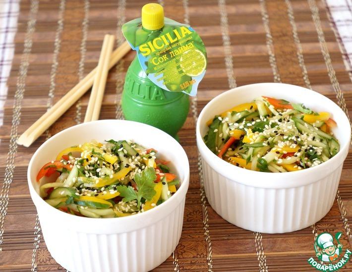 Рецепт: Огуречный салат по-тайски