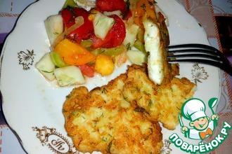 Рецепт: Куриные отбивные в картофельном кляре