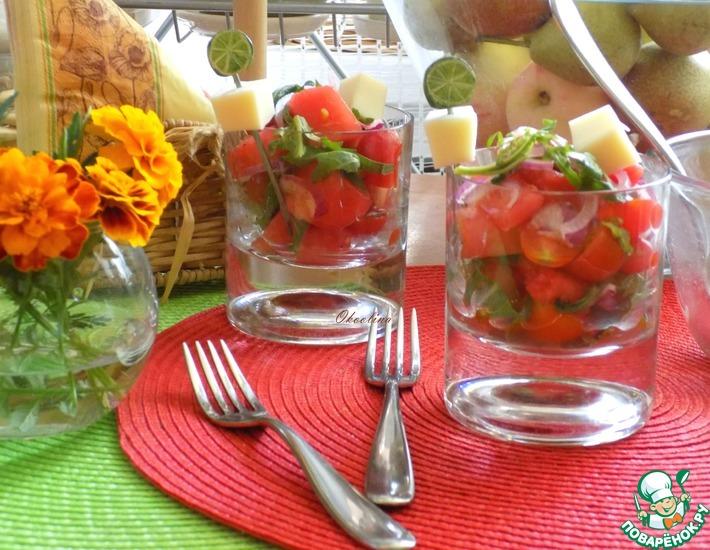 Рецепт: Освежающий салат с арбузом