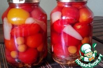 Рецепт: Маринованные помидоры с алычой
