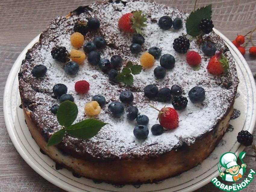Шоколадный пирог с черникой