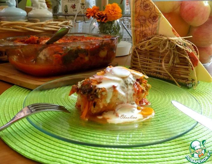 Рецепт: Ленивые голубцы из цветной капусты