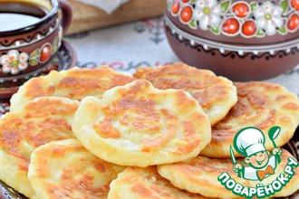 Рецепт: Лепешки сырные на сковороде