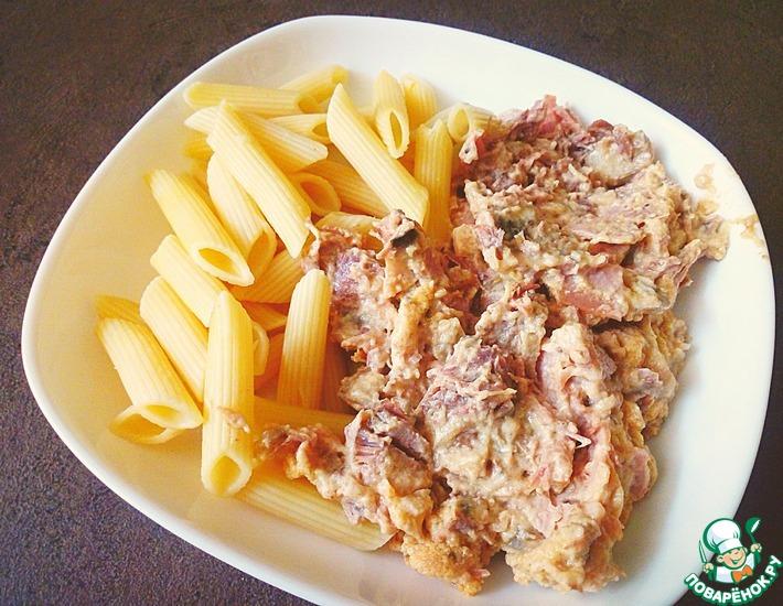 Рецепт: Свинина с грибами Баконская