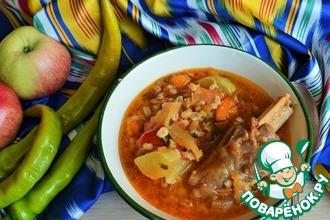 Рецепт: Бараньи голяшки в соусе с овощами