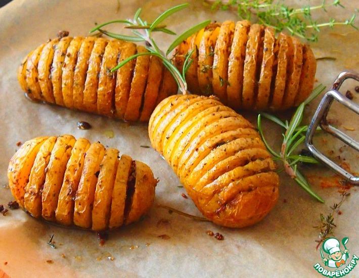 Рецепт: Запеченный картофель с розмарином