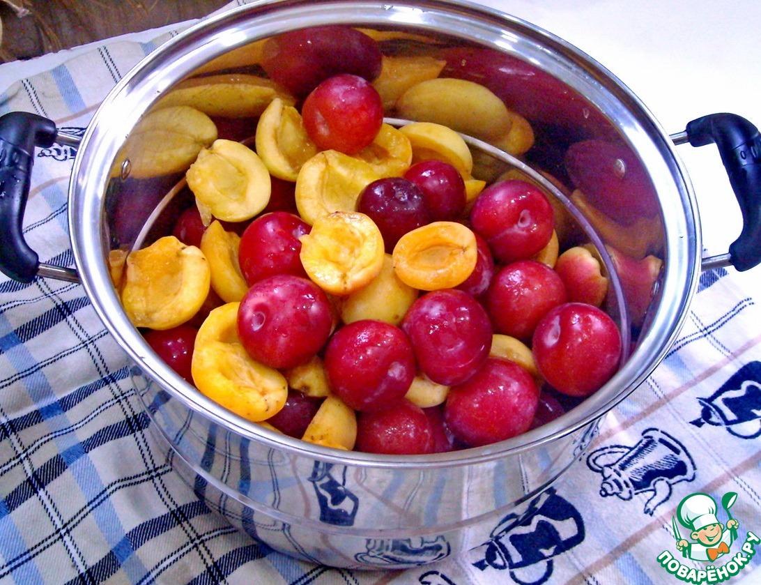 Варенье из абрикосов и розовой сливы