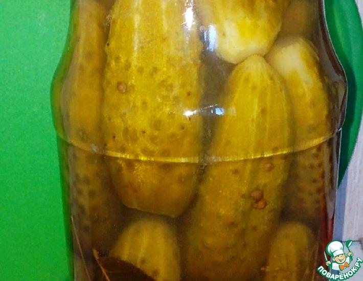 Рецепт: Огурцы маринованные Медовые