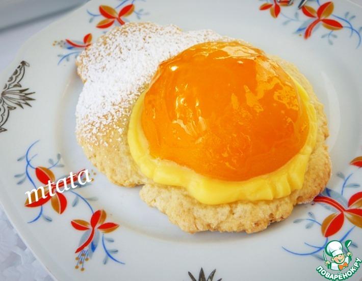 Рецепт: Персиковые медальоны с ванильным кремом
