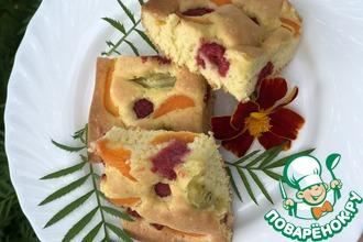 Рецепт: Супер быстрый ягодный пирог