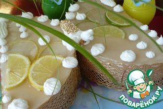 Рецепт: Торт Бабочка-лимонница