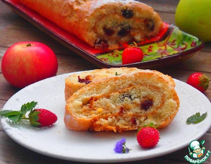 Рецепт: Быстрый яблочный рулет