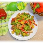 Теплый салат Абинский
