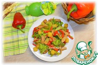 Рецепт: Теплый салат Абинский