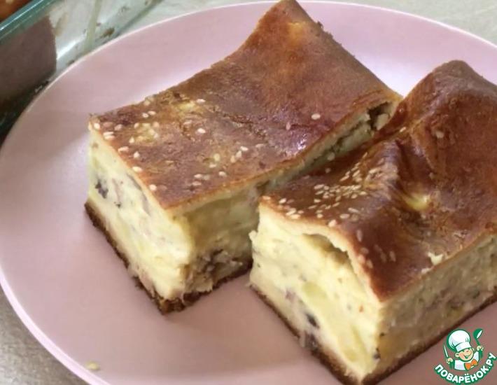 Рецепт: Быстрый пирог со свежемороженой скумбрией