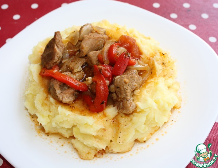 Рецепт: Свинина с овощами по-болгарски