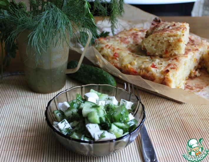 Рецепт: Огуречный салат с фетой