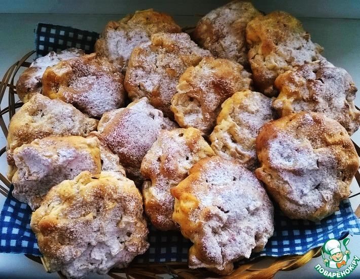 Рецепт: Мягкое яблочное печенье