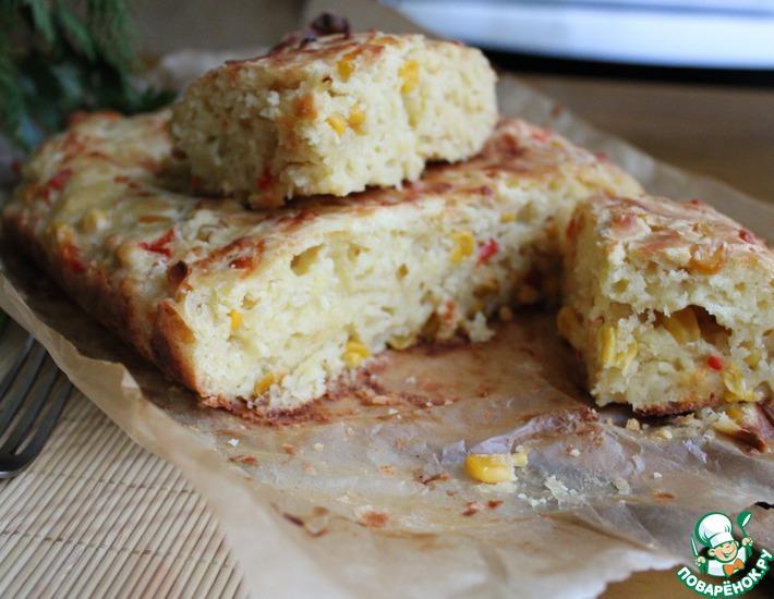 Рецепт: Кукурузный хлеб с сыром