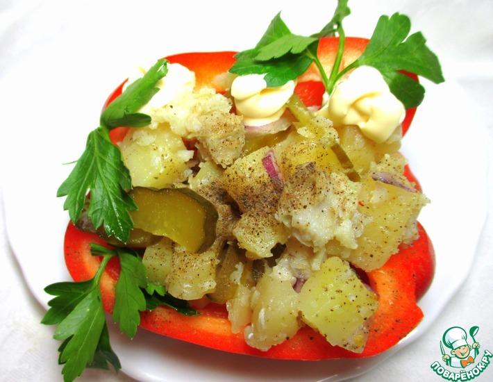 Рецепт: Салат рыбный Русская душа