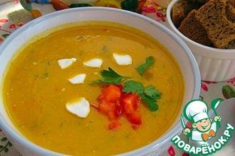 Рецепт: Суп-пюре с кабачками и сладким перцем