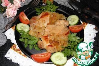 Рецепт: Жареная свинина с луком