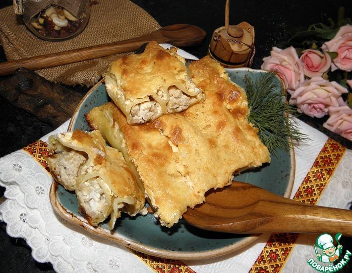 Рецепт: Каннеллони с индейкой