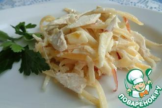 Рецепт: Салат с курицей и брюквой
