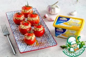 Рецепт: Бакинские помидоры, фаршированные острым сыром