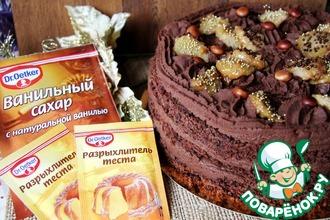Рецепт: Шоколадно-банановый торт Банановый рай