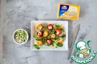 Рецепт: Закуска из сладкого перца с сыром и зеленью