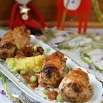 Фаршированные куриные грудки Новогодние