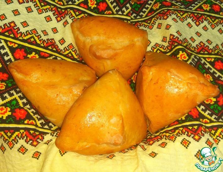 Рецепт: Пирожки с фаршем и капустой Бирокс