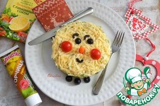 Рецепт: Салат Снеговик с авокадо