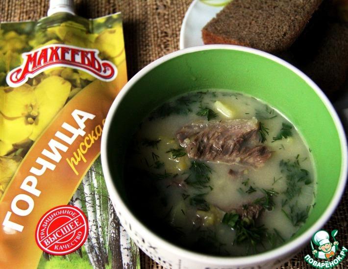 Рецепт: Финский гороховый суп с горчицей