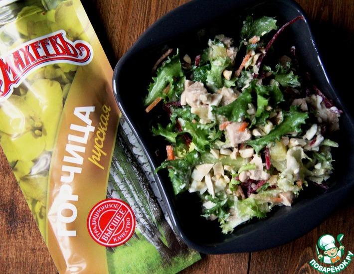 Рецепт: Салатный микс с печенью трески