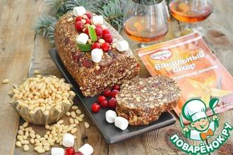 Рецепт: Рождественское фруктово-ореховое полено