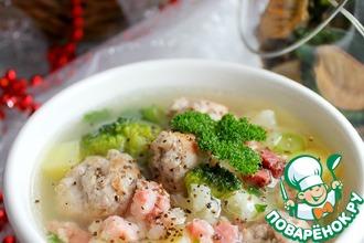 Рецепт: Суп Две капусты с мясными шариками
