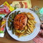 Грудка, запечённая с картофелем по-гречески