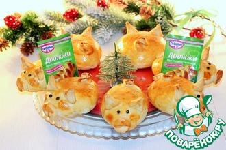 Рецепт: Новогодние пирожки Дружная семейка