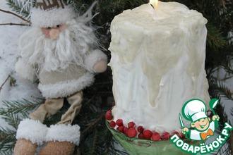 Рецепт: Новогодний торт Свеча