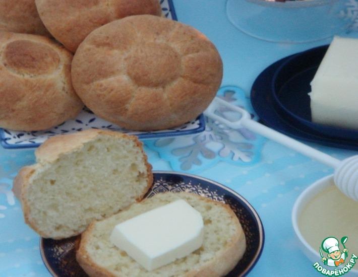 Рецепт: Сдобные булочки на греческом йогурте