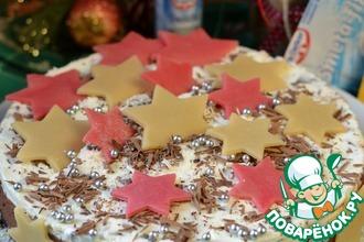 Рецепт: Новогодний торт Звезды