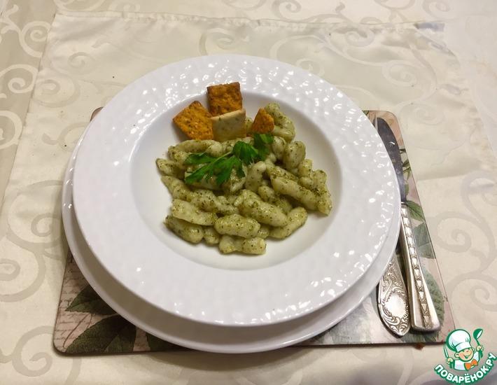 Ньокки из цветной капусты под соусом песто
