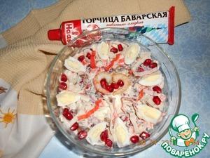 Рецепт: Салат с креветками и крабовыми палочками
