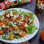 Салат с хурмой и голубым сыром