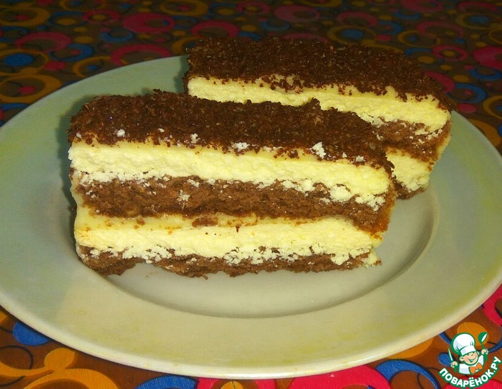 Рецепт: Творожно-банановые пирожные