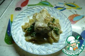 Рецепт: Тушеная курица с картофелем в мультиварке