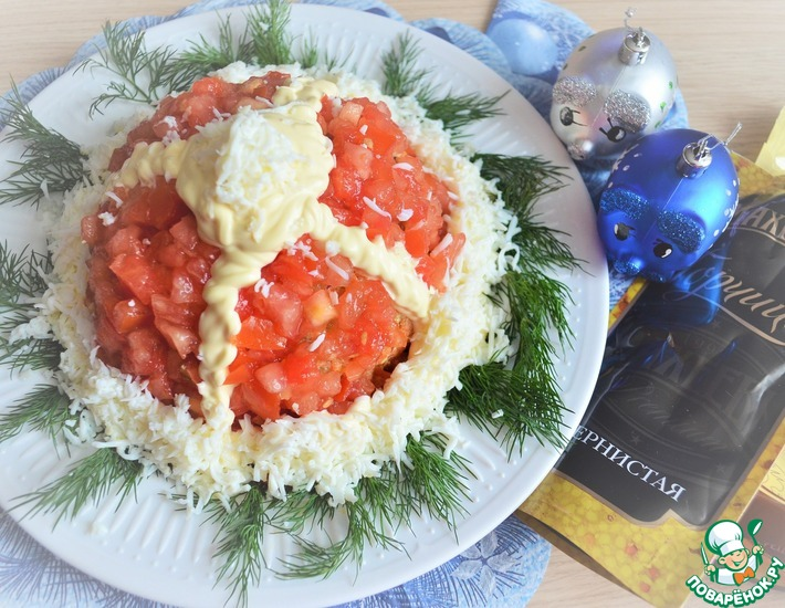Рецепт: Салат Шапка Деда Мороза